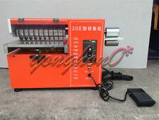 Leather Cutting Machine PVC Slitting Machine Leather Slitter JL-200 220V NEW