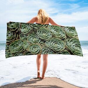Succulent Plants Beach or Bath Towel