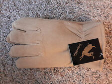 Deerskin gloves, M, HEATLOK Insulated, Leather, North American Trading , Natural