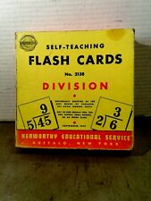 Vintage 1948 Self Teaching Flash Cards - Division - from Kenworthy