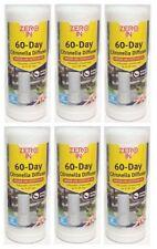6 x Zero In 60 Day Citronella Diffuser Fly Insect Killer Repellent