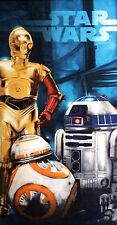 Star Wars Episode VII Droids Beach Towel measures 28 x 58 inches