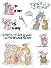 House Mouse CHRISTMAS Clear Stamps Peppermint Santa Mistletoe Ginger Candy Cane