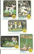 1973 Vintage NM Topps of 1972 Post Season 8 cards sub set Rose BENCH Perez