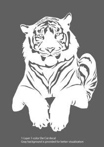 "Animals - Tiger 1 - Die Cut 6Yrs Vinyl Decal - Wildlife - Multicolor - 5""-12"""