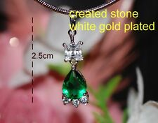 4ct pear cut 5x7mm emerald DIAM0NDS pendant