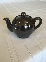 Small Dark Glossy Brown Teapot Single Cup Pre-owned