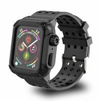 For Apple Watch Series 4 Case Band 40/44mm Built-in Screen Protector Case +Strap