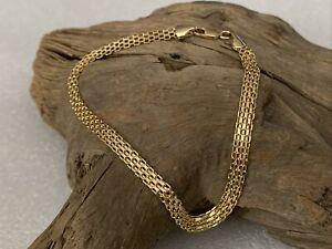 "Vintage Ladies 9ct 375 Gold Fancy Link Chain Bracelet 8 3/4"" Jewellery - 2.3gram"
