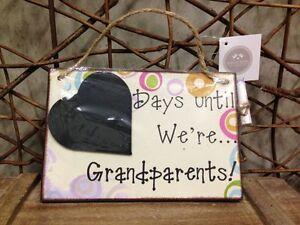 Heaven Sends 'Days until we're Grandparents' chalkboard sign 18cm