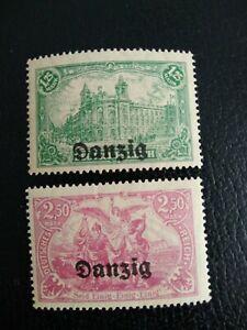 DANZIG 1920, 1.25m Green & 2.50m, MNH