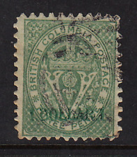 British Columbia Surcharged Issue #18  Forgery  No Hidden Faults