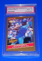 1986 Donruss Highlights Baseball George Brett Card #3 PSA 9 Kansas City Royals