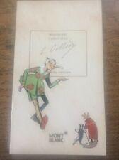 Rare Vintage MONT BLANC Pen Carlo Collodi Ltd Ed Sales Launch Brochure Catalogue