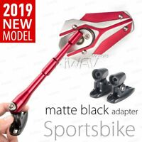KiWAV Viper Red Mirrors Fairing with Black Adapter for MV AGUSTA 312 / S All