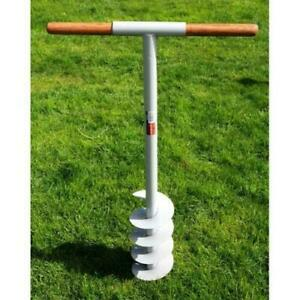 """Manual Hand Earth Auger Fence Post drill 160mm Soil Digger Hole Borer 6"""" Digger"""