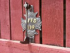 Fire Maltese Cross Door Knocker Blacksmith handmade Forged Iron Usa