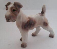 Dahl Jensen #1118 Wired Haired Fox Terrier Dog Figurine Denmark Royal Copenhagen