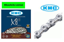 KMC Bike/Cycle X8-99 8 Speed Silver Chain / Hi Performance Chain 116 Links