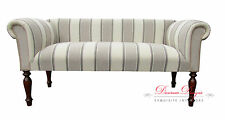 Gorgeous 2 Seater Cream & Beige Herringbone Striped Traditional Style Sofa