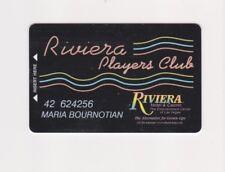 Players Slot Club Rewards Card The Riviera Hotel & Casino Las Vegas NV CLOSED