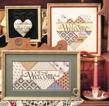Just Crossstitch - WELCOME DEAR FRIENDS - 3 designs, c1991, OOP