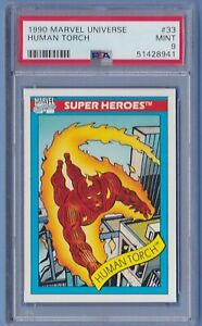 1990 Marvel Universe #33 Human Torch PSA 9 Mint series 1 Impel
