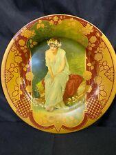 Antique Vienna Art Tin/Metal Plate Portrait 006