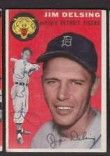 1954 TOPPS SIGNED CARD #111 JIM DELSING TIGERS DEC