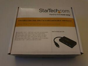 StarTech.com HB30C3A1CFB 4-Port USB-C Hub - USB-C to 1x USB-C and 3x USB-A