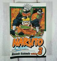 Naruto Vol. 3 by Masashi Kishimoto Viz Manga Book in English Shonen Jump 2007