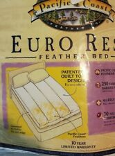 Pacific Coast Euro Rest Feather Bed Twin White New $210