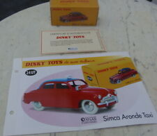 SIMCA ARONDE TAXI  DINKY TOYS 24 UT   ATLAS 1/43    SEALED BOX + certificate