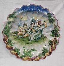 Piatto ceramica Albisola primi '900 cm 40x40 Antikidea