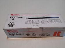 Ricoh PPC Refill Staple Type K  410802  502R-AM  3 Cartridges Staples