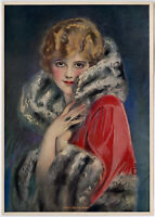 Vintage Earl Christy Thos. D Murphy Pin-up Print Flapper Is Ready For The Opera
