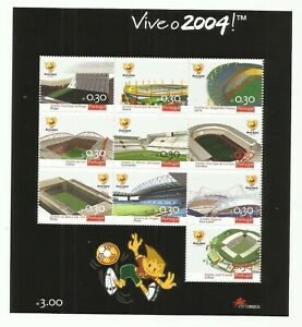 Portugal 2003 - European Football Cup 2004, Portugal Stadiums S/S MNH