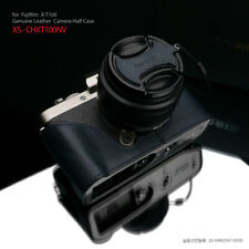 Gariz XS-CHXT100NV Genuine Leather Half Case for Fujifilm Fuji XT100 X-T100 Navy