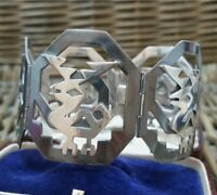 Vintage Designer Sterling Silver Bracelet, Statement, Chavez Peru 925, 46 GR