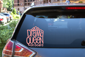 Baby Drama Queen On Board Footprint Car Sticker Bumper Decal Vinyl Car Window Uk
