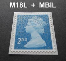 NEW MAY 2018 2nd Class M18L + MBIL MACHIN SINGLE STAMP from Business Sheets