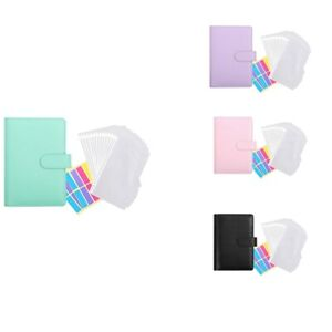 12 Pieces of Transparent Plastic A6 Binder Envelopes,Waterproof Cash Budget vb