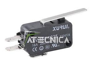 Microswitch électrique NO NC 250V 16A microrupteur à bouton 50 g levier long
