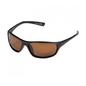 Korda Polarised Wrap Sunglasses Black Frame & Brown Lenses K4D10