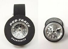 "Pro Track ""Top Fuel"" 1 3/16"" x .500 wd Matching Rr & Ft Drag 1/24 Slot Car Tire"