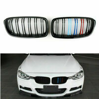 M Color Gloss Frontal Riñón Parrillas Double Rib Para 12-14 BMW 3-Series F30 F35