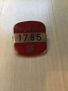Vintage Royal Mail Employee Enamel Badge - 1785 SF - VGC