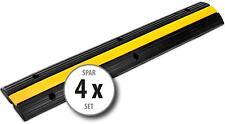4x Robuste 1-Kanal Kabelbrücke Kabelrampe mit 10T Belastbarkeit und 1 Meter Set