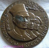 MED8394 - MEDAILLE CENTENAIRE DES TROUPES AFRICAINES 1857-1957 par TSCHUDIN