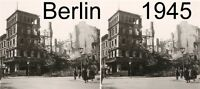 13 STEREOFOTOS VON BERLIN UM 1945 vor und nach der Bombardierung